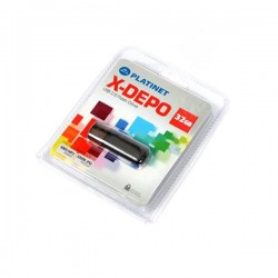 PLATINET USB 2.0 X-DEPO  Flash Disk 32GB ασημί PMFE32S